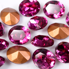 Strass Oval Swarovski art. 41302 Fuchsia 10x8mm