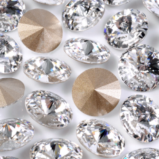 Strass Rivolli Swarovski art. 1122 base conica Cristal SS29D6,20mm