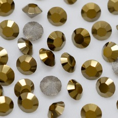 Strass Xilion Swarovski art. 1028 base conica Cristal Dourado SS12  3,00mm