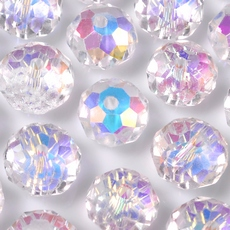 Cristal Disco  The Big E art. 40 Cristal Aurora Boreal 8x6mm