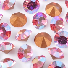 Strass Mc Chaton Optima Preciosa art. 431 11 111 base conica Rose Aurora Boreal SS 8,5  2,40mm