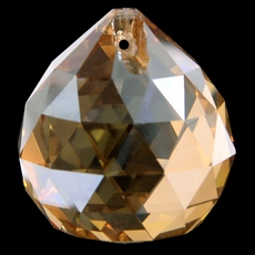 Bola Pingente K9 LDI Cristais art. 72 Cristal Honey Dourado 30mm