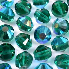 Disco Swarovski art. 5100 Emerald Aurora Boreal 7mm