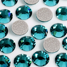 Strass Chaton Viva 12 Preciosa art. 438 11 612 HF Blue Zircon SS30 6,30mm