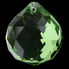 Bola Pingente K9 LDI Cristais art. 72 Emerald 50mm