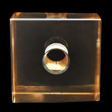 Cubo K9 LDI Cristais art. 34 Cristal Honey Dourado 50x50x15mm