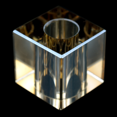 Cubo K9 LDI Cristais art. 37 Cristal Honey 25x25mm furo com 12mm