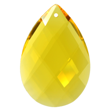 Amendoa Pingente K9 LDI Cristais art. 08 Light Topaz 63x43mm2,5 polegada