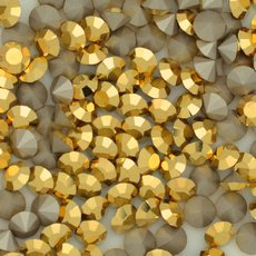 Strass Mc Chaton Maxima Preciosa art. 431 11 615 base conica Cristal Aurum SS 6,5  2,00mm