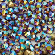 Strass Mc Chaton Optima Preciosa art. 431 11 111 base conica Smoked Topaz Aurora Boreal SS12  3,00mm