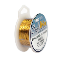 Craft Wire Fio Copper Dourado 26 Gauge  0,40mm