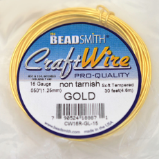 Craft Wire Fio Copper Dourado 16 Gauge  1,29mm