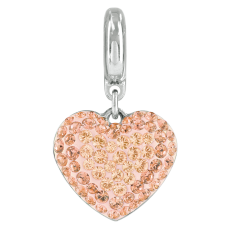 Berloque Swarovski Charm Becharmed Pingente Coracao Light Peach 14mm