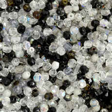 Cristal Preciosa Ornela Mix Shadow Preto e Branco 3mm