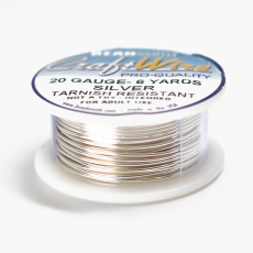 Craft Wire Fio Copper Prata 20 Gauge  0,81mm