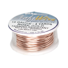 Craft Wire Fio Copper Rose Gold 18 Gauge  1mm