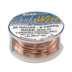 Craft Wire Fio Copper Rose Gold 20 Gauge  0,81mm