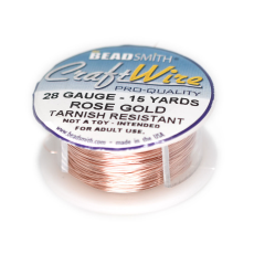Craft Wire Fio Copper Rose Gold 28 Gauge  0,32mm