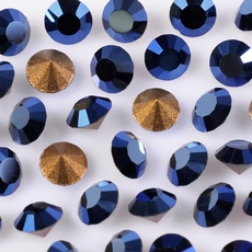 Strass Swarovski art. 1012 base conica Cristal Metallic Blue SS12  3,00mm