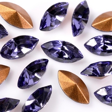 Strass Navete Swarovski art. 42002 base conica Tanzanite 6x3mm